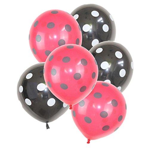 Dragon868 [32 Stück Ballons Marienkäfer Polka Dot Latex Ballons Party Ballons Hochzeit Dekoration (B, Ballons) (Polka Dot Latex-ballons)