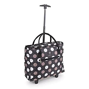 27 Litre Wheeled Hand Luggage Travel Bag Pull Out Handle Name Tag Different