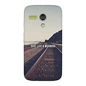 Neo World A Meaning Back Case Cover for Moto G