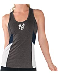 "New York Yankees Women's G-III MLB ""Strength"" Workout Racerback Tank Top Shirt Chemise"