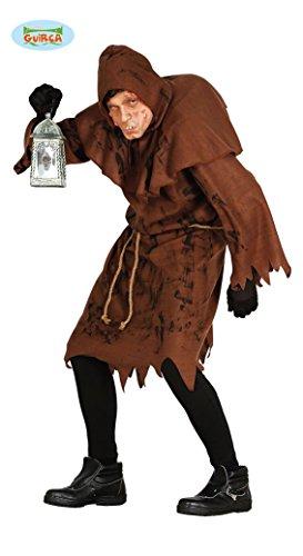 Buckliger Glöckner Halloween Herren Kostüm Pfarrer Mönch Obdachloser Herrenkostüm Kirche Gr. M/L, Größe:L (Lustige Herren Kostüme Für Halloween)