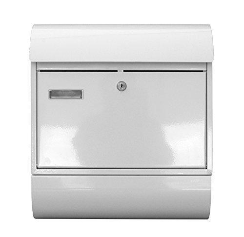 Großer Briefkasten XXL Zeitungsrolle Postkasten Briefkasten Farbe weiss