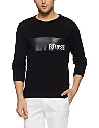 Jack & Jones Mens Cotton Sweater (1986171001_Black_XXL)