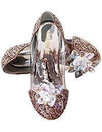 473fdfaa3e6b49 ELSA   ANNA UK Girls Princess Snow Queen Wedged Party Shoes Sandals GLD13-SH