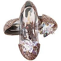 ELSA & ANNA® Niñas Última Diseño Princesa Reina de Nieve Partido Zapatos Zapatos de Fiesta Sandalias GLD13-SH (GLD13-SH, Euro 32-Longitud:21.3cm)