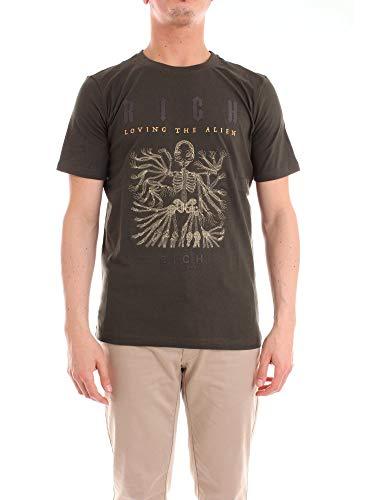 RICHMOND Herren Hma18054tsgreen Grün Baumwolle T-Shirt