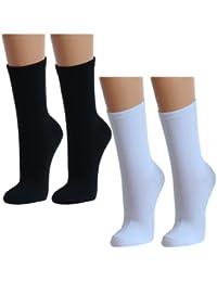Lavazio® 12   24   36   48 Paar Topmodische Socken für Damen &Teenager verschiedene Farb-Kombis