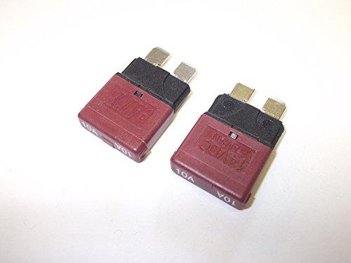 2x 10Amp rot Auto Reset Stromunterbrecher Sicherungen Klinge Automotive Marine