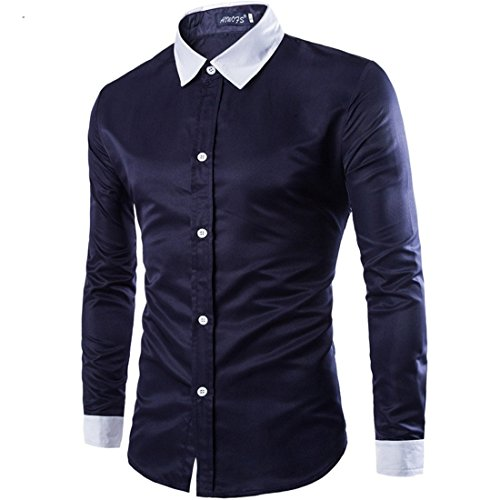 Men's Long Sleeve Casual Shirts Navy