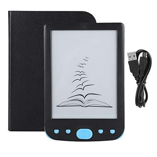ASHATA E-Reader, Protegge Gli Occhi, Batteria ad Alta capacità 6 Pollici 800 * 600 HD E-Ink Lettore di Libri elettronici di Facile Lettura Lettore di Libri elettronici con Scheda TF (Blu)