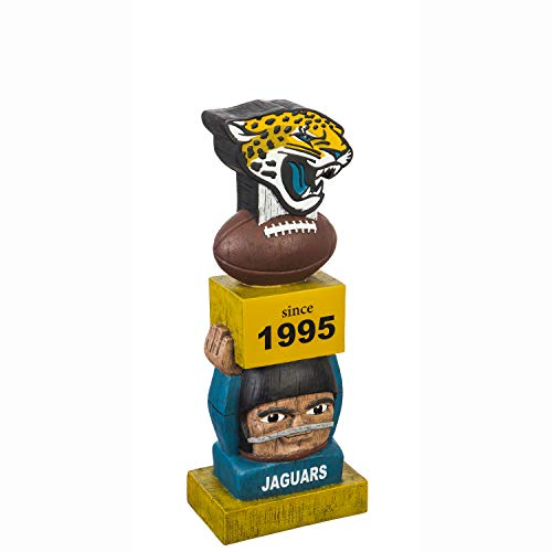 Team Sports America Jacksonville Jaguars Vintage NFL Tiki Totem Statue