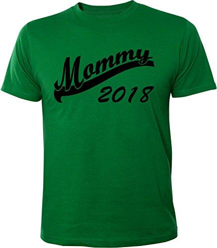 Mister Merchandise Herren Men T-Shirt Mommy 2018 Tee Shirt bedruckt Grün