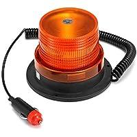 VISTARIC Lámpara de advertencia de luz de emergencia rotativa ámbar de 24W ámbar Stobe Beacon para camión de automóvil
