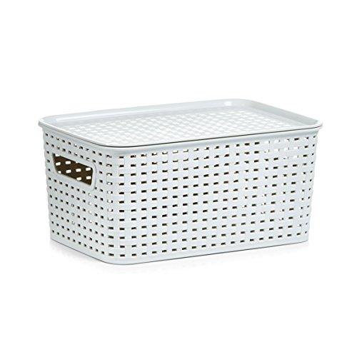 Preisvergleich Produktbild Zeller 13100 Stapelbox mit Deckel, Kunststoff, beige