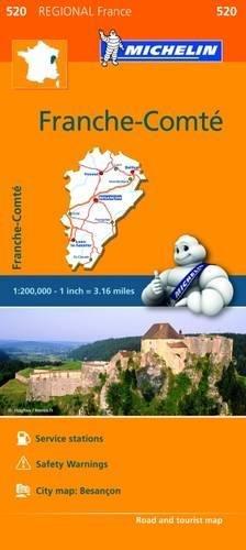 Preisvergleich Produktbild Franche-Comte - Michelin Regional Map 520 (Michelin Regional France,  Band 520)