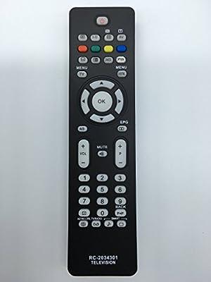 Vinabty reemplazado control remoto del televisor RC2034301/01 313923814201 para Philips 50PFP5532D 32PFL3512D 26PFL5522D 26PFL3512D 32PFL5522 26PFL7532D/12 26PFL7532D 19PFL5522D-12 32PFL5522D-12 42PFL5522D-12 37PFL5522D-12