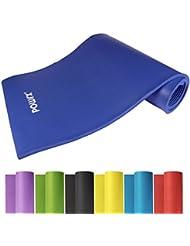 Powrx Gymnastikmatte Trainingsmatte Pilatesmatte Yogamatte Phthalatfrei 190 x 60 x 1.5 cm oder 190 x 100 x 1.5 cm in verschiedenen Farben mit praktischem Trageband