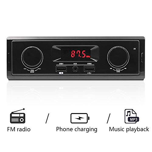 AOLVO K501 Auto MP3 Player FM Radio Tuner AUX Eingang USB Ladefunktion Without Remote Control