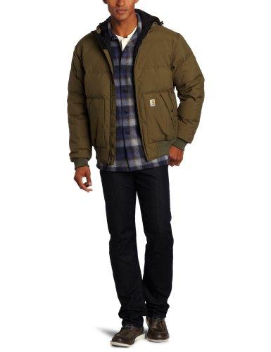 Carhartt 100115 Men's Down Kalkaska Active Jacket, Größe_Bekleidung:L;Carhartt_Farbe:army green -