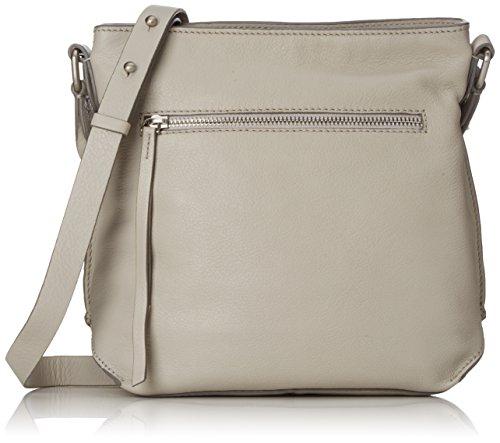 Clarks Damen Topsham Jewel Schultertasche, Grau (Light Grey Lea), 10x25x31 cm Clarks 10 Damen