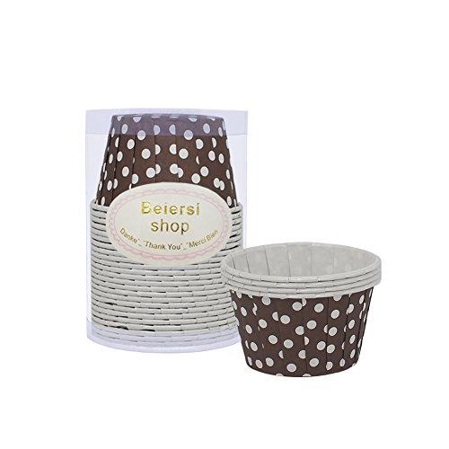 llenpunkt Papier Tassen Kuchen Party Muffin Kuchen Backen Baking Cup (Braun) ()