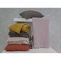 Elainer Home Living - Manta 100% algodón Lavado, sin Encogimiento, Fabricada en Portugal
