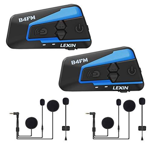 LEXIN B4FM 1200 Meter Drahtlose Bluetooth-Sprechanlage Motorrad-Sturzhelm Bluetooth Intercom Wasserdicht Winddicht Headset im Freien Radfahren (Rauschunterdrückung) Elektronik Bluetooth
