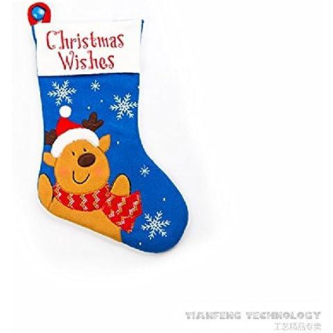 XJoel Giocattoli Calze bella Christmas Stockings classica sveglia di Babbo Natale