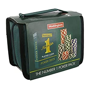 Waddingtons Poker Número 1-Bolsa de Viaje, Color Verde (Winning Moves 031196)