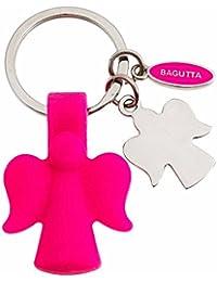 Bagutta Porte-clés Femme en Acier/Silicone Blanc/Rose, 10 Grammes