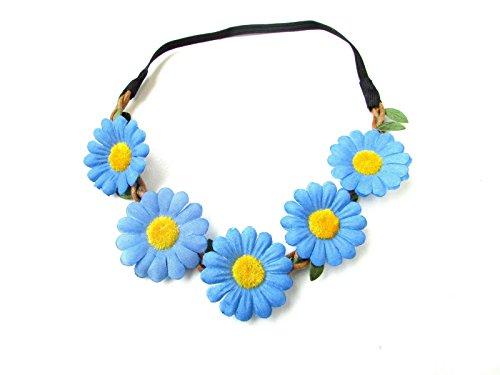 Tournesol bleu chaîne Daisy fleur bandeau Guirlande Boho festival Motif floral 1960 B62 * * * * * * * * exclusivement vendu par – Beauté * * * * * * * *