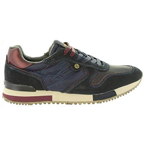 WRANGLER Scarpe Uomo Sneaker Forest Suede in camoscio blu WM182115-NAV