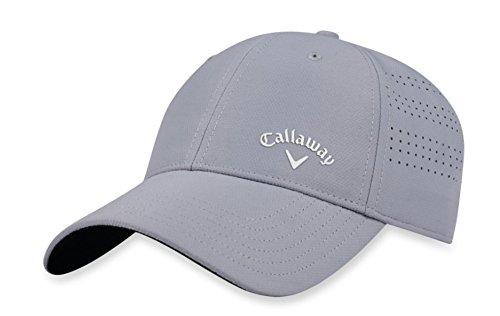 Callaway Femme Opti-Vent Casquette de Golf réglable, Argenté/Blanc, Taille Unique