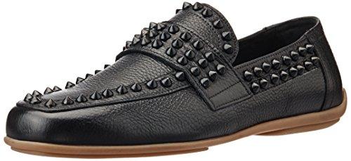 Galliano Men's Cervo Black Leather Loafers And Mocassins(no Returns, No Exchange )
