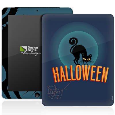 Apple iPad 1 Aufkleber Schutz Folie Design Sticker Skin Halloween Katze Gruselig (Gruselig-designs Halloween Für)