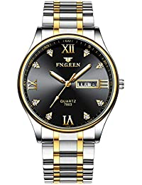 aef85cfef QIXUN Men Watch Fashion Luxury Business Quartz Watch Date Week Display  Hodinky Male Clock Reloj Hombre