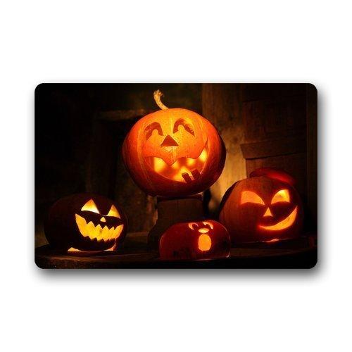 ECXAQLBRL Custom Machine-Washable Doormat - Personalized Happy Halloween Durable Floor Mat/Gate Pad for Outdoor/Indoor (L23.6