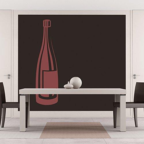Bottiglia di vino Adesivo Wall Sticker Wine Art disponibile in 5 dimensioni e 25 colori Extra-Small Rosso