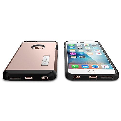 iPhone 6S Plus Hülle, Spigen® [Tough Armor] Schwerschutz [Gunmetal] Doppelte Schutzschicht & Extrem Hoher Fallschutz Schutzhülle für iPhone 6 Plus / 6S Plus Case, iPhone 6 Plus / 6S Plus Cover - Gunme TA Rose Gold