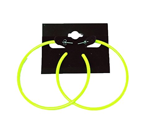 Large Neon Loop Earrings Set - 3 colours