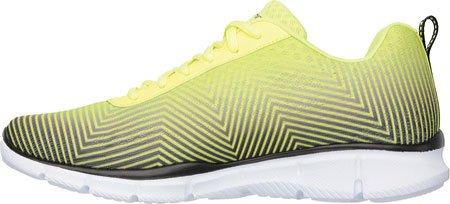SKECHERS 51505 JEU JOUR chaussures de sport noires homme mémoire fonctionnant jaune Giallo