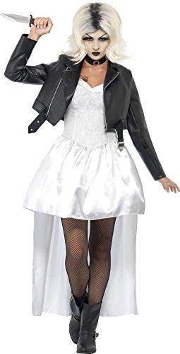 Chuckys Braut Halloween Damen Kostüm Chucky Halloweenkostüm Damenkostüm Gr. M, (Braut Chucky's Für Kostüm Erwachsene)