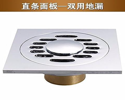 Sdkky tous Bronze imitation Odor Siphon de sol, insectes Proof de salle de bain balcon avec filtre en acier inoxydable 7,6cm