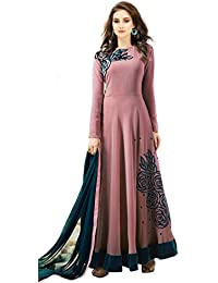 Florely Women's Pure Georgette & Santoon Semi-stitched Salwar Suit