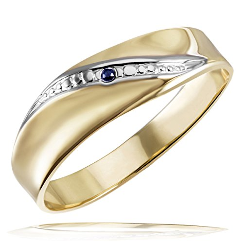 Goldmaid Damen-Ring 333 Gelbgold  1 Safir