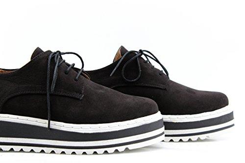 MODELISA , Chaussures de ville à lacets pour femme Noir