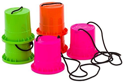 Betzold 850102 - Laufstelzen-Set 3 Paar aus sehr robustem Kunststoff - Kinder-Becherstelzen