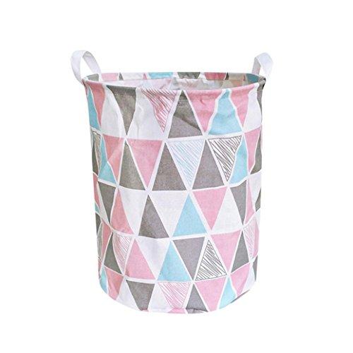 YULAND Aufbewahrungskorb, Faltbare MutiColors Storage Bin Wasserdichte Leinwand Bettwäsche Wäsche Wäschekorb Ablagekorb Falten Aufbewahrungsbox Container Organizer Stoffkorb (C)