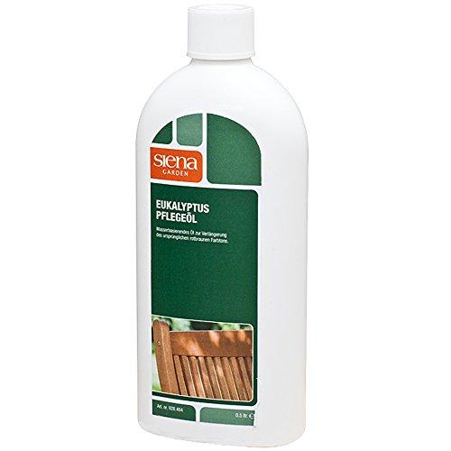MARKENARTIKEL Eukalyptus Pflege Öl Hartholz Gartenmöbel Holz Lasur Schutz Pflege Hartholzöl- 500ml
