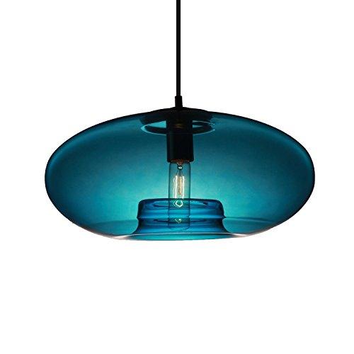 KJLARS Vintage Suspensions Mini Pendentif Lampe Boule De Verre Suspension Lampe En Verre Lampe Ampoule pour Salon Salle À Manger Chambre